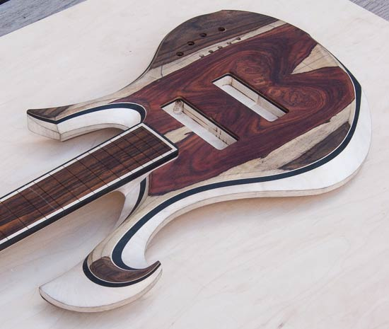 Xylem custom bass with Xylem custom scroll