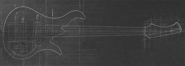 Design of a custom 6-string bass with traditional body shape