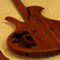 Single cutaway neck heel on a mahogany custom bass