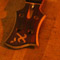 Headstock and fretboard of a Xylem 4 string bass