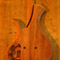 Xylem custom mahogany bass from the back