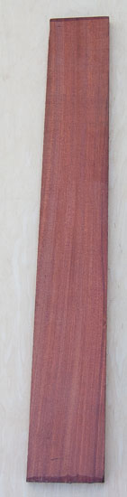 Bloodwood fretboard blank for a custom bass build