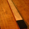 Ebony neck shim and headstock on a quarter sawn bass neck