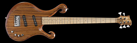 5 string custom bass with maple fretboard