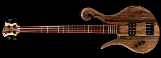 Lefty Xylem bass with black limba body