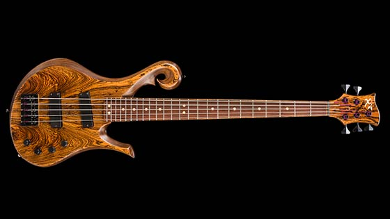 5-string custom bass w/ Nordstrand pickups, Audere Classic 4-band preamp