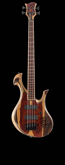 Custom bass with Ghost piezos & Hexpander MIDI from Graphtech