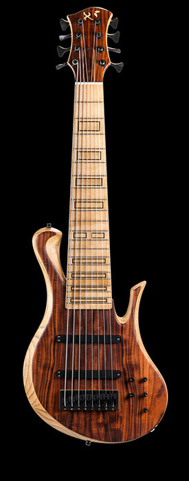 8 string custom bass with Delano pickups