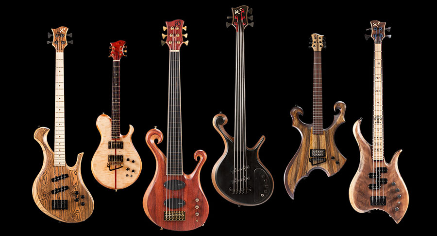 Custom basses and guitars made by Xylem