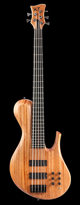 Sub-contra 5-string bass with EMG pickups