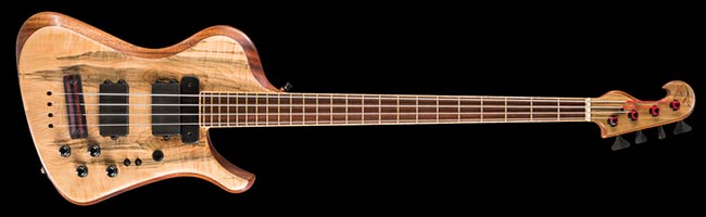 Thunderbird custom bass with quad-coil Bartolini pickups
