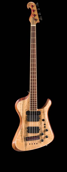 Thunderbird-style bass with ACG preamp, Bartolini pickups