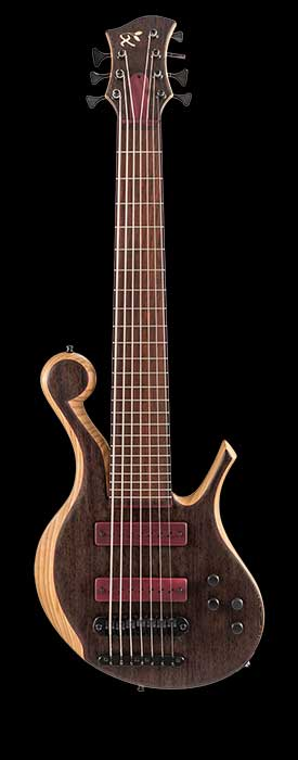 7 string custom bass with Nordstrand pickups