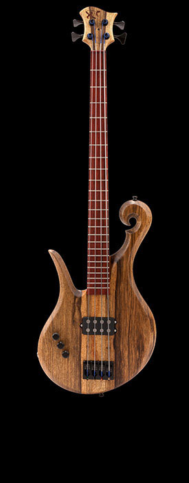 Left handed custom bass with Nordstrand MusicMan style pickup
