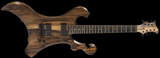 Xylem 7 string black limba guitar with killswitch
