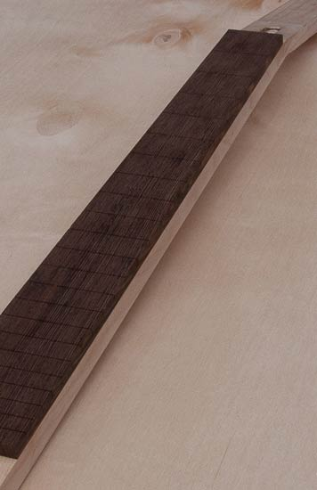 Wenge fingerboard on a maple guitar neck, 22 frets