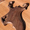 Carved black walnut custom guitar body