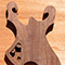 Black walnut core of a metal style custom guitar body