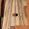 Custom guitar body blank with black limba top