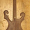 Black walnut body and neck of a custom guitar
