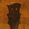 Custom guitar neck with black walnut veneer on back