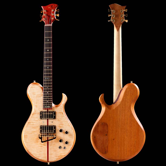 Xylem single cut guitar with flamed maple top
