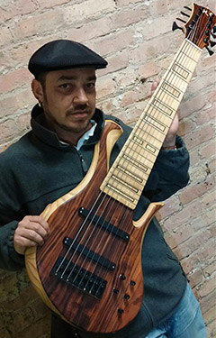 Jauqo III-X, Chicago Bassist, plays the Atma Xylem bass